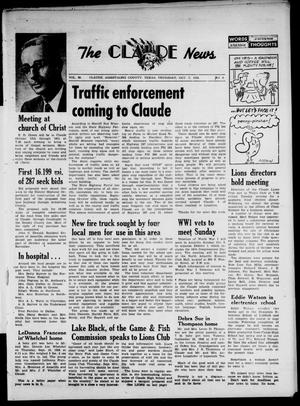Primary view of object titled 'Claude News (Claude, Tex.), Vol. 69, No. 6, Ed. 1 Thursday, October 2, 1958'.