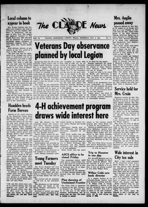 Claude News (Claude, Tex.), Vol. 72, No. 12, Ed. 1 Thursday, November 9, 1961