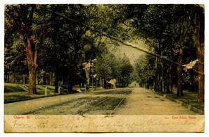 Primary view of object titled '[East Main Street, Quincy, Illinois]'.