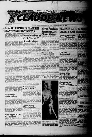 Primary view of object titled 'Claude News (Claude, Tex.), Vol. 64, No. [3], Ed. 1 Thursday, September 17, 1953'.
