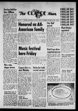 Claude News (Claude, Tex.), Vol. 70, No. 32, Ed. 1 Thursday, March 31, 1960
