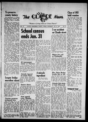 Claude News (Claude, Tex.), Vol. 73, No. 21, Ed. 1 Thursday, January 10, 1963