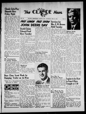 Claude News (Claude, Tex.), Vol. 64, No. 25, Ed. 1 Thursday, February 18, 1954