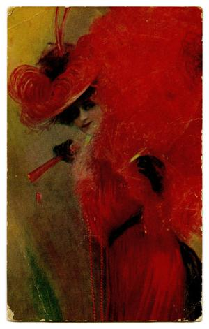 Primary view of object titled '[Woman in Red]'.