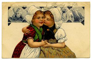 Primary view of object titled '[Two Dutch Girls Embracing]'.