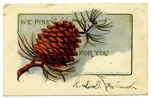 Primary view of object titled '[We Pine For You]'.