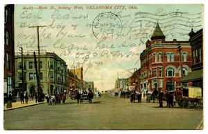 Primary view of object titled '[Main Street in Oklahoma City, Oklahoma]'.