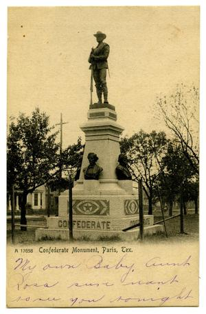 Primary view of object titled '[Confederate Monument, Paris, Tex.]'.