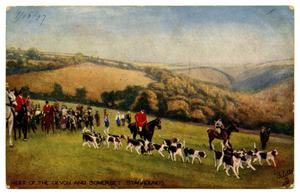 Primary view of object titled '[Meet of the Devon and Somerset Staghounds]'.