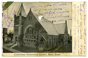 Primary view of object titled '[Cumberland Presbyterian Church, Paris, Texas]'.