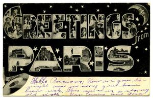 Primary view of object titled '[Greetings From Paris]'.