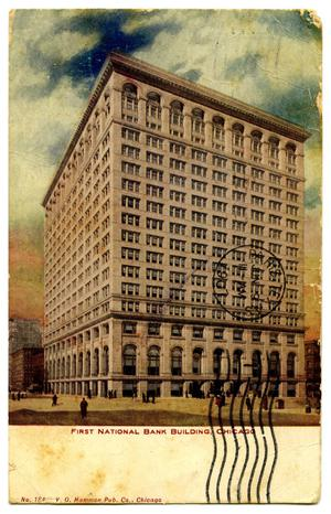 Primary view of object titled '[First National Bank Building, Chicago]'.
