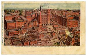 Primary view of object titled '[Anheuser Busch Plant in St. Louis, Missouri]'.