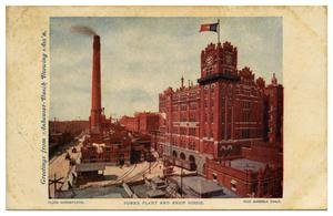 Primary view of object titled 'Power Plant and Brew House at Anheuser Busch.'.