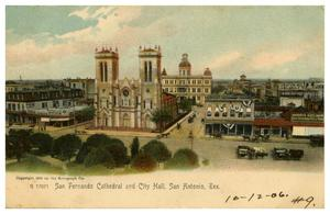 Primary view of object titled 'San Fernando Cathedral and City Hall, San Antonio, Tex.'.