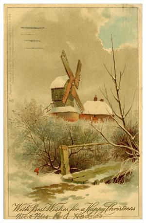 Primary view of object titled '[Windmill in Winter]'.