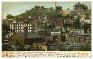 Primary view of object titled 'Mt. Adams Incline and Rockwood Pottery, Cincinnati, Ohio'.