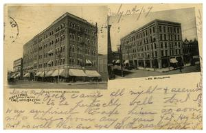 Primary view of object titled '[Baltimore Building and Lee Building in Oklahoma City]'.
