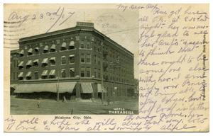 Primary view of object titled '[Hotel Threadgill in Oklahoma City]'.