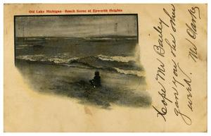 Primary view of object titled 'Beach Scene at Epworth Heights'.