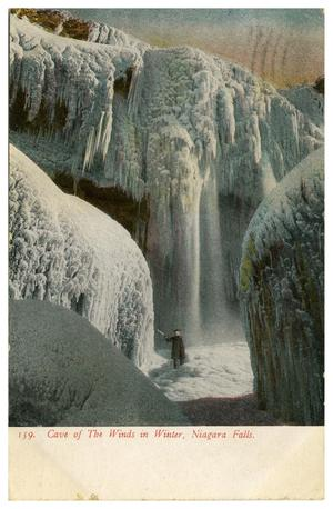 Primary view of object titled 'The Cave of the Winds in Winter, Niagara Falls'.