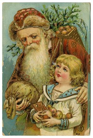 Primary view of object titled '[Santa and Child]'.