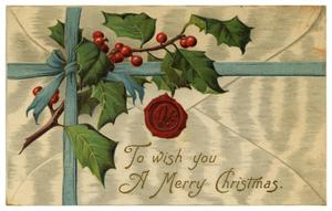 Primary view of object titled 'To Wish you A Merry Christmas'.