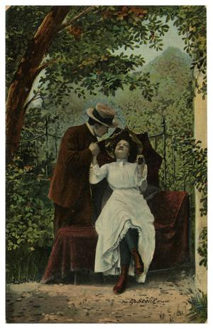 Primary view of object titled '[Couple in a Park]'.