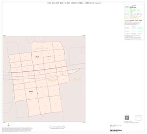 Primary view of object titled '1990 Census County Block Map (Recreated): Harrison County, Inset B01'.