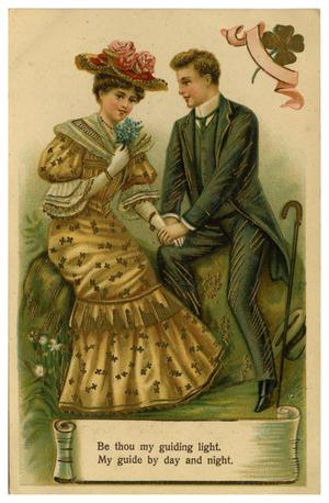 Primary view of object titled '[Man and Woman Holding hands]'.