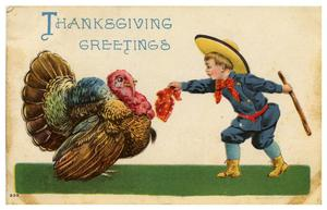 Primary view of object titled 'Thanksgiving Greetings'.