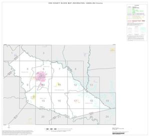Primary view of object titled '1990 Census County Block Map (Recreated): Angelina County, Index'.