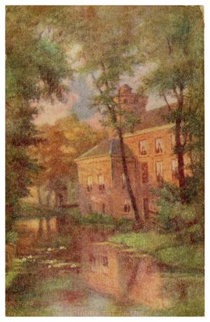 Primary view of object titled '[Large Home Near a Pond and Trees]'.