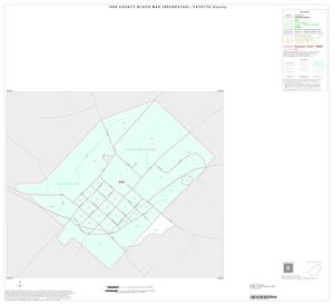 Primary view of object titled '1990 Census County Block Map (Recreated): Fayette County, Inset D01'.