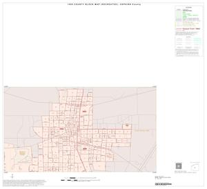 Primary view of object titled '1990 Census County Block Map (Recreated): Hopkins County, Inset B02'.