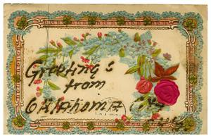 Primary view of object titled '[Floral Postcard]'.