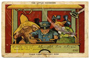 Primary view of object titled 'The Little Hayseeds, Their First Trolley Ride'.