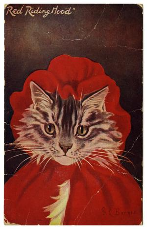 "Primary view of object titled '[""Red Riding Hood"" Cat]'."