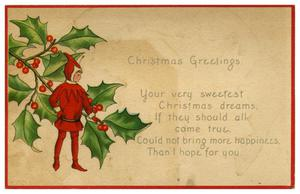 Primary view of object titled 'Christmas Greetings'.