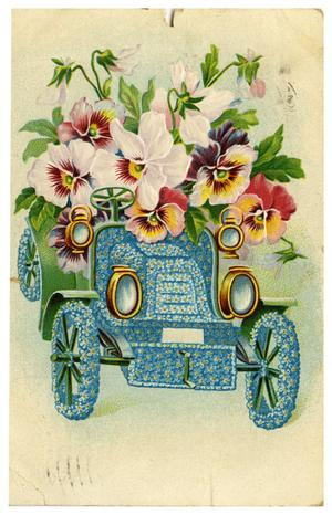 Primary view of object titled '[Car Made of Flowers]'.