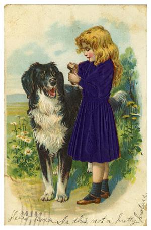 Primary view of object titled '[Girl and Dog]'.