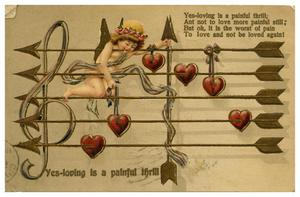 Primary view of object titled '[Valentine Post Card]'.