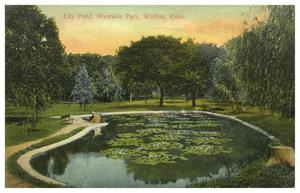 Primary view of object titled '[Lily Pond, Riverside Park, Wichita,Kansas]'.