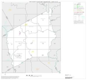Primary view of object titled '1990 Census County Block Map (Recreated): Leon County, Index'.