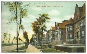 Primary view of object titled 'Lake Shore Drive,Chicago, Ill.'.