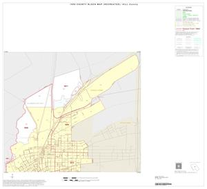 Primary view of object titled '1990 Census County Block Map (Recreated): Hill County, Inset F01'.