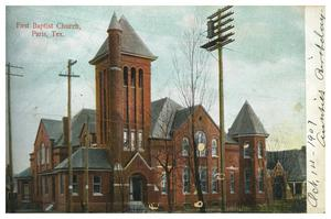 Primary view of object titled 'First Baptist Church, Paris, Tex.'.