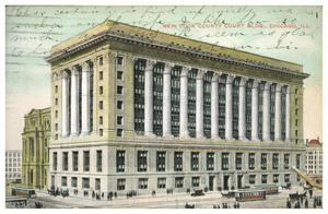 Primary view of object titled 'New Cook County Court Bldg. Chicago Ill.'.