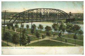 Waco, Texas. New Bridge over Brazos River.