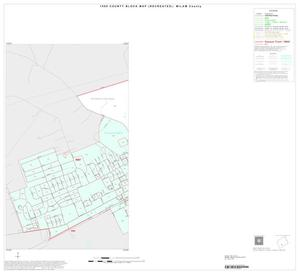 Primary view of object titled '1990 Census County Block Map (Recreated): Milam County, Inset E01'.